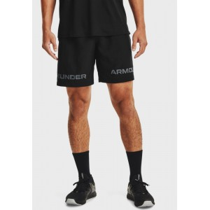 Men's Under Armour black Woven Graphic Shorts Ships Free AIOEN9298