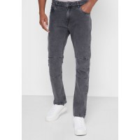 Men's Seventy Five grey Washed Cut and Sew Slim Fit Jean Cheap O0RJB7869
