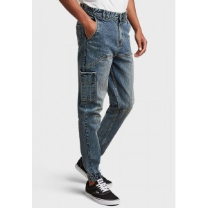 Men's Styli blue Washed Slim Fit Cargo Jogger Jeans Selling Well 509D52611