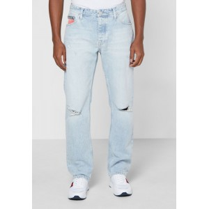 Men's Tommy Jeans blue Light Wash Straight Jeans Selling Well O1ZMB5266
