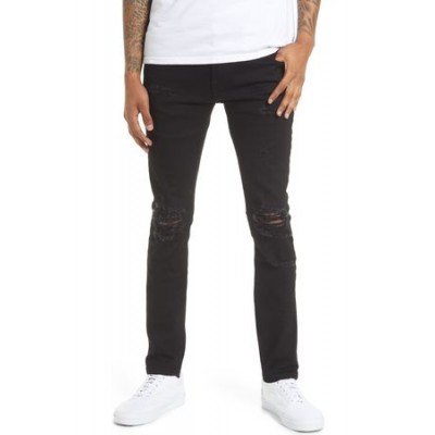 Cult Of Individuality Men's Punk Men's Super Skinny Stretch Jeans Black / Blue on style Men AWWS1945