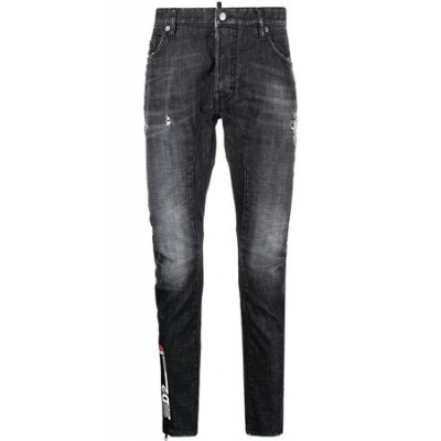 Dsquared2 Distressed skinny jeans - Grey Gray Cotton Fit for Men OCIX8714