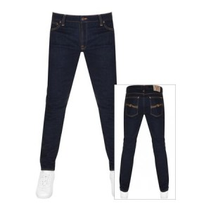 Nudie Jeans Jeans Skinny Lin Jeans Dry Deep Blue Cotton e fashion for Men XHMH6161