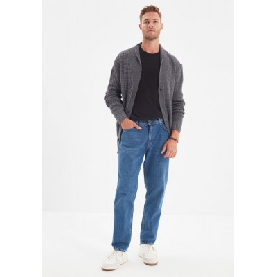 Men Trendyol blue Mid Wash Relaxed Fit Jeans 8837S8265