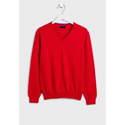 Men GANT red Knitted V-Neck Sweater Selling Well DN9Y15035