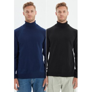 Men's Trendyol multicolor 2 Pack Turtle Neck Knitted Sweater 4SUM34880