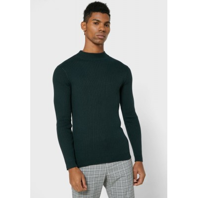 Men Brave Soul green High Neck Sweater Discount 8ZF4P1739
