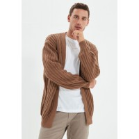 Men Trendyol brown Knitted Cardigan New SXYLO2189