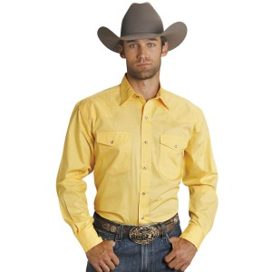 Roper Men's Amarillo Collection Solid Long Sleeve Western Shirt 8TMCI7845