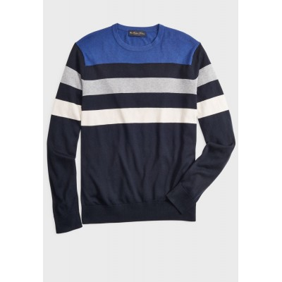 Men Brooks Brothers multicolor Color Block Sweater New G1NSG2534