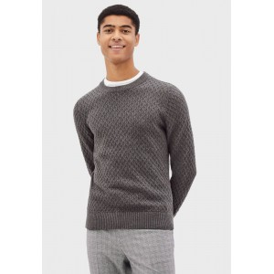 Men Celio grey Knitted Crew Neck Sweater 66PAG6533