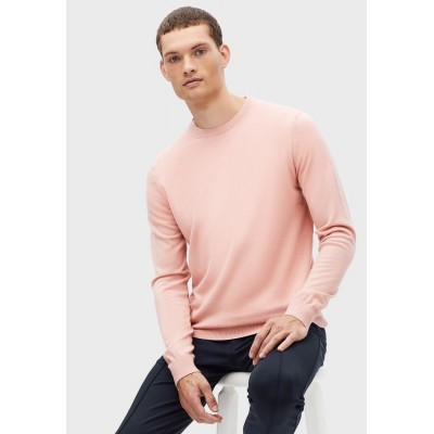 Men Celio pink Knitted Crew Neck Sweater New Arrival AP8QZ3761