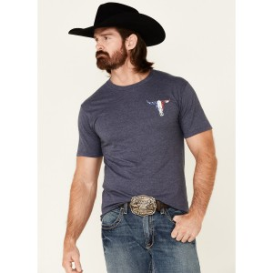 Cowboy Hardware Men's Freedom Isn't Free Graphic Short Sleeve T-Shirt Boutique T6AI18135