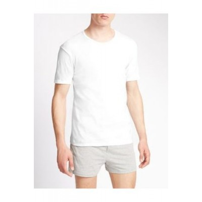 Marks & Spencer 3pk Pure Cotton T-Shirt Vests White Cotton On Sale for Men VHEQ2047