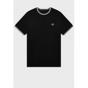 Men Fred Perry black Tipped Crew Neck T-Shirt 2021 New XZU4S1961