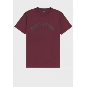Men Fred Perry red Arch Branded T-Shirt Cut Off XSSB58040