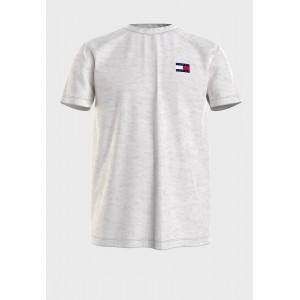 Men Tommy Jeans grey Logo Badge Crew Neck T-Shirt TDY7G709