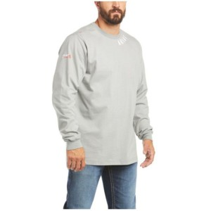 Ariat Men's FR Silver Fox Wrench Graphic Long Sleeve Work Shirt Trend T65D53321