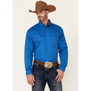 Roper Men's Solid Amarillo Collection Long Sleeve Western Shirt Collection GFPGW5513
