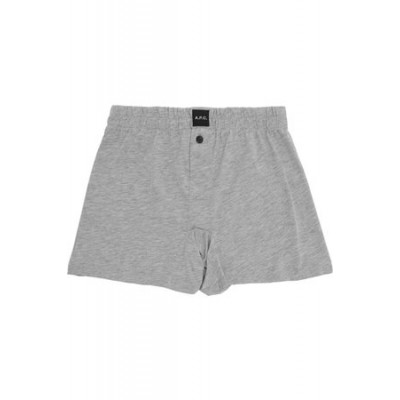 A.P.C. Grey Cabourg Boxer Briefs Cotton on style Men DUUV2301