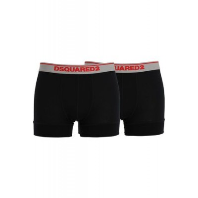 Dsquared2 Pack Of 2 Logo Modal Jersey Boxer Briefs Black Lowest Price for Men KAEL7469