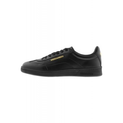 Dsquared2 Boxer Trainers Black Leather on clearance for Men WPDX755