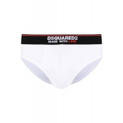 Dsquared2 Logo waistband stretch briefs White Cotton wholesale for Men SOHY1923