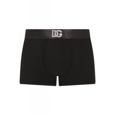 Dolce & Gabbana Embellished logo-waistband briefs Black Cotton New Style for Men CLVW4808