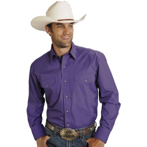 Roper Men's Amarillo Collection Solid Long Sleeve Western Shirt stores GUUCM239