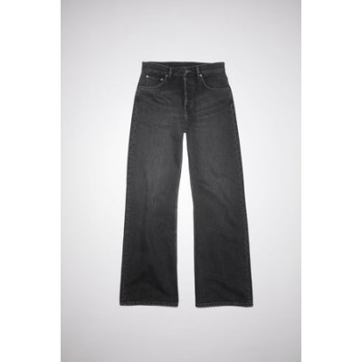 Acne Studios 2021F Vintage Loose bootcut jeans Black Cotton The Best Brand for Men EWWH6812