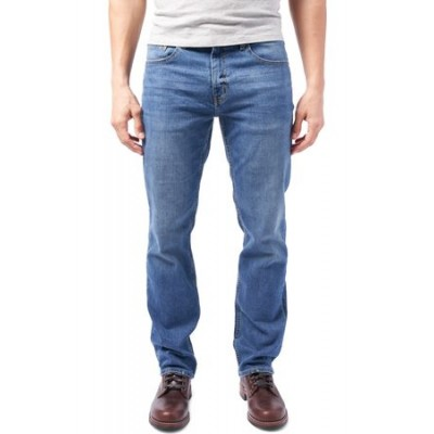 DEVIL-DOG DUNGAREES Men's Boot Cut Performance Stretch Jeans Blue Trending for Men MQHY3686