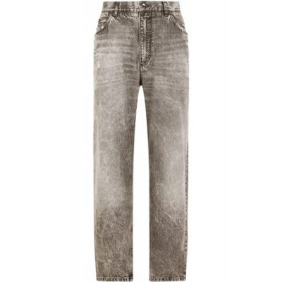 Dolce & Gabbana Distressed-effect wide leg jeans - Grey Gray Cotton Clearance Men NOSE3588