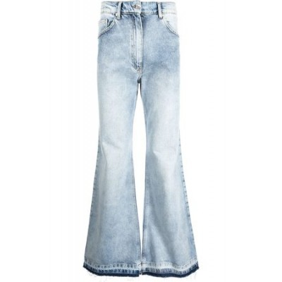DUOltd Duo Washed flared jeans Blue Cotton New Arrival Men OQJW8710