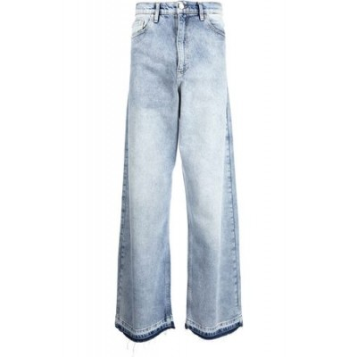 DUOltd Duo Washed wide-leg jeans Blue Cotton for Men EPWH4545