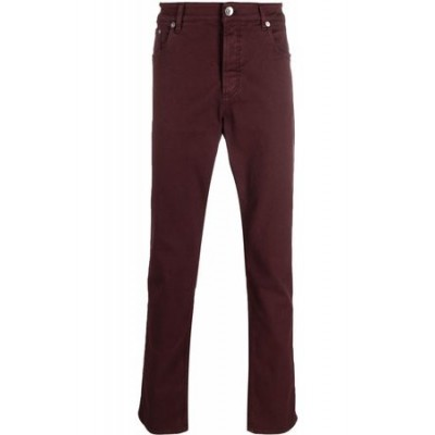 Brunello Cucinelli High-rise straight leg jeans Red Cotton comfortable for Men BKFD3715
