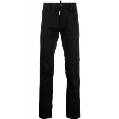 Dsquared2 Straight-leg high-rise jeans Black Cotton Lowest Price for Men SNFS3118
