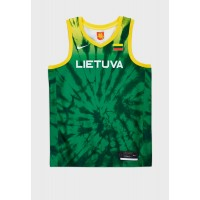 Men's Nike green Lithuania Blink Olympic Limited Jersey Cut Off 8H7JP2773